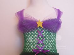 Little Mermaid Tutu Dress Full Length Ariel by AmericanBlossoms