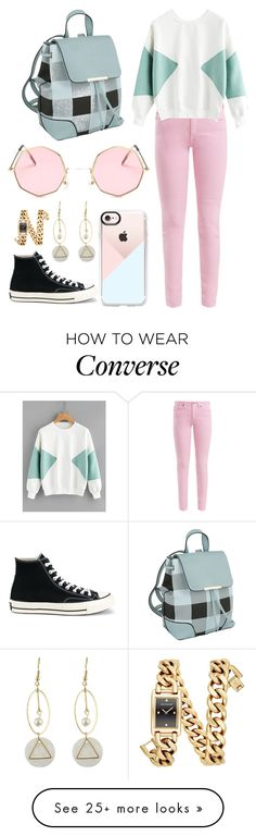 """""""Untitled #16"""" by alyssajspolyvore on Polyvore featuring Casetify, Acne Studios, Converse, Rebecca Minkoff and MKF Collection"""