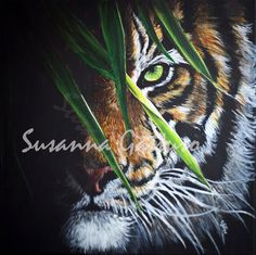 """Tiger"" cm 40x40  Susanna Gattuso © Copyright 2017 