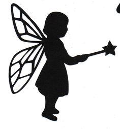 Fairy child Silhouette HALLOWEEN die cut by simplymadescrapbooks