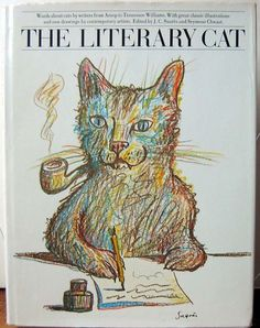 The Literary Cat Seymour Chwast, Cat Poems, All About Cats, I Love Cats, Cat Art, Cats And Kittens, Funny Cats, Illustration Art, Drawings