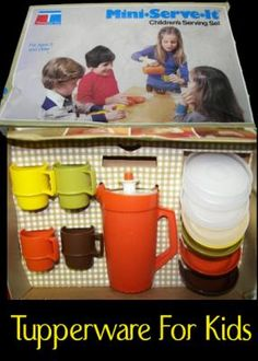 My mom was a Tupperware seller, so this is something I had.  The pitcher & four mugs still exist in her kitchen.  My kids use 'em!