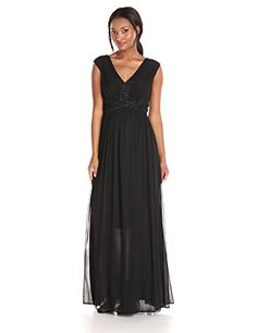 JS Boutique Women's Matte Jersey Chiffon Gown with Beaded Embellishment, Black, 2 JS Boutique http://www.amazon.com/dp/B016YNHP6I/ref=cm_sw_r_pi_dp_Mzjcxb021RAFK