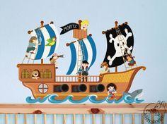 Cute Wandgestaltung Kinderzimmer Pirat
