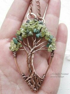 Tree of Life Pendant - Beaded and Wire Wrapped