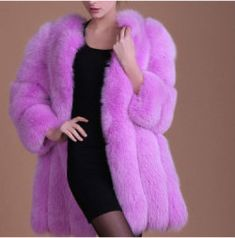 Queen Devin Faux Fur Coat - (more colors) (XS-3XL) — Pink Plastic Pink Fur Coat, Pink Plastic, Blue Coats, Faux Fur, Queen, Colors, Model, Jackets, Fashion