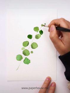 Watercolor Painting Techniques, Watercolour Tutorials, Watercolour Painting, Painting & Drawing, How To Watercolor, Watercolor Flowers Tutorial, Step By Step Watercolor, Plant Painting, Plant Drawing