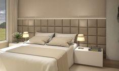 Cabeceiras Estofadas – JNS Persianas Bedroom Pop Design, Bedroom False Ceiling Design, Bedroom Furniture Design, Home Room Design, Bed Design, Bedroom Decor On A Budget, Home Decor Bedroom, Modern Bedroom, Bed Headboard Design