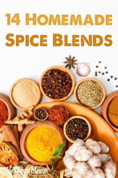 14 Homemade Spice Blends—Wellness Mama Save money while making these high quality herb and spice blends at home without additives or chemicals! Homemade Spice Blends, Homemade Spices, Homemade Seasonings, Spice Mixes, Spice Rub, Wellness Mama, Wellness Tips, Seasoning Mixes, Cajun Seasoning