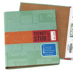 Ticket Stub Diary  Help a friend save memories of favorite concerts and movies—and clean out her purse—with this cool scrapbook. ($10; uncommongoods.com)