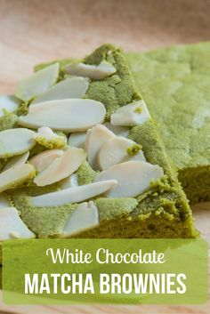 These white chocolate matcha brownies are light and airy, and they have a subtle, earthy green tea flavor that doesn't overwhelm the sweetness! http://epicmatcha.com/white-chocolate-matcha-brownies/?utm_source=pinterest&utm_medium=pin&utm_campaign=social-organic&utm_term=pinterest-followers&utm_content=blog-white-chocolate-matcha-brownies
