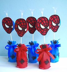 . Man Party, Spiderman, Spider Man Party, Party Favors, Kids Part, Fiestas, Spider Man, Masculine Party, Amazing Spiderman