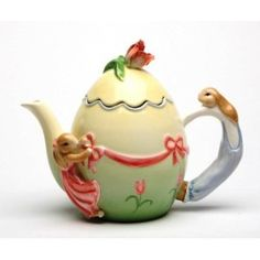 bunny rabbit Easter teapot