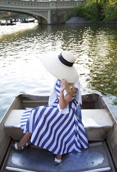 stripes on stripes // a central park boat ride | // Atlantic-Pacific
