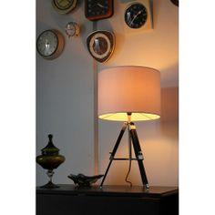 Vintage Tripod Table Lamp - White
