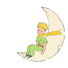 Little Prince in the moon! Little Prince Quotes, Little Prince Tattoo, The Little Prince, Prince Drawing, Famous Book Quotes, Prince Tattoos, Lunar Chronicles, Art Sketchbook, Illustration Art