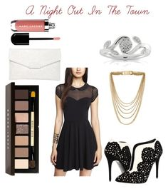 """A Night Out In The Town"" by andrea-michelle99 ❤ liked on Polyvore featuring Alexander McQueen, Bobbi Brown Cosmetics, Witchery, Michael Kors and Marc Jacobs"