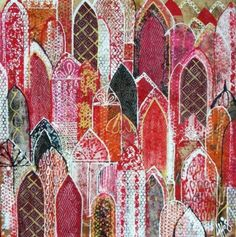 Abstract Architecture Mixed Media 900 x 900 SOLD Abstract Architecture Mixed Art And Illustration, Kitsch, Arabic Art, A Level Art, Art Journal Pages, Islamic Art, Indian Art, Art And Architecture, Mixed Media Art