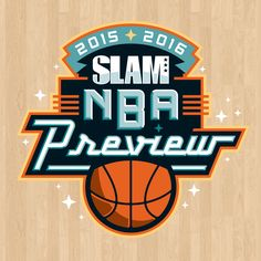 Today is also NBA tipoff night—here's my 2015-16 NBA Preview logo for @SLAMonline —thanks @bosborne17 !