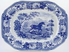 Serving platter Aesop's Fables Spode www.home-selections.gr