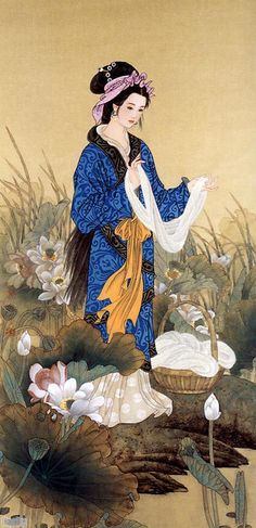 Xi Shi, 西施 one of the renowned Four Beauties of ancient China.