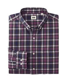 $30 MEN EFC BROADCLOTH CHECKED LONG SLEEVE SHIRT Work Shirts, Store Fronts, Uniqlo, Dapper, Work Wear, Kids Outfits, Long Sleeve Shirts, Plaid, Casual