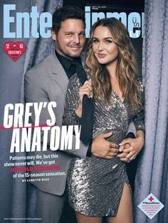 Collector\'s Cover #2: Justin Chambers (Dr. Alex Karve) and Camilla Luddington (Dr. Jo Wilson)