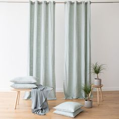 Every room needs the perfect set of curtains to finish off its look. Our Terra linen curtains come in a choice of 8 elegant colours and will add a natural, easy-going charm to your home. Curtain Fabric, Linen Fabric, Linen Curtain, Linen Bag, Long Curtains, Panel Curtains, Sea Foam, Natural Linen, Cushion Covers