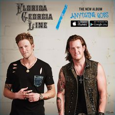 The wait is over! Florida Georgia Line's NEW album is available now! Country Singers, Country Music, Country Boys Love, Blake Sheldon, Tyler Hubbard, Brian Kelley, Florida Georgia Line, New Bands, Fun Events