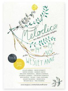 Beautiful botanical inspired poster