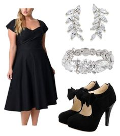 """""""LBD w/ retro flair and bling"""" by shesonfire-1 on Polyvore featuring Henri Bendel and Carolee"""