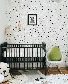 @themckeens sure knows how to incorporate a little bit of #MyHomeSense magic into this adorable baby room. A knit pear cushion adds the perfect touch of colour in a simple black-and-white nursery, with a hint of sweetness!