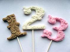 fancy filigree number hard candy lollipops, via Vintage Confections on Etsy. Cake Tutorial, Hard Candy, Cookie Decorating, Cake Pops, Cookies Et Biscuits, Cake Toppers, Cupcake Cakes, Icing, Frosting