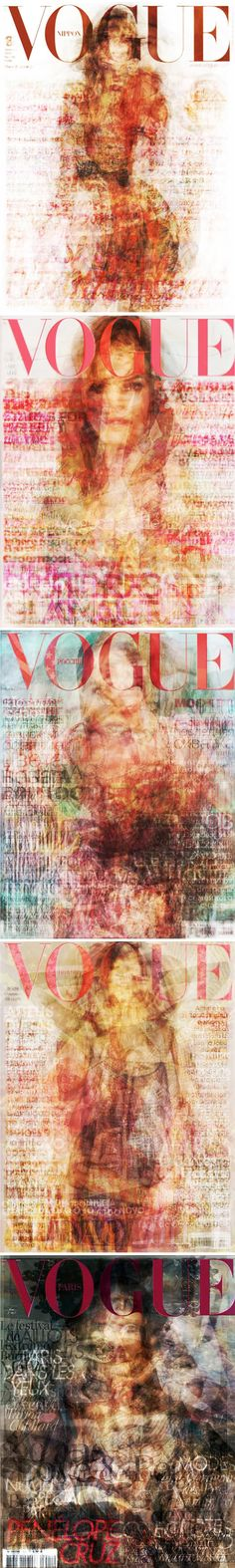 Vogue on Vogue on Vogue - made by layering all twelve of the 2010 covers on top of each other.