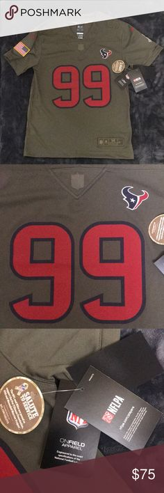 """7bf199158 Nike Youth JJ Watt Houston Texans Jersey Size M Salute to Service limited  edition """"on"""