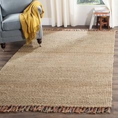 Safavieh Natural Fiber Collection NF455A Hand Woven Natural and Multi Jute Area Rug (5' x 8') ** Want to know more, click on the image. (This is an affiliate link and I receive a commission for the sales)