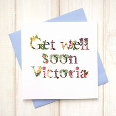 Get Well Soon Card - Floral Get Well Wishes Card - Post Operation Card - Speedy Recovery Wishes Card - Feel Better Soon - Care Package Gift - Etsy - LetsDreambyChiChiMoi