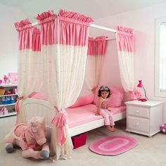 This is such an adorable canopy bedroom set for your little princess!