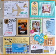 I'm always looking for ideas how to include boarding passes    Week 16 – Project Life by amy tangerine