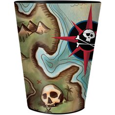 Pirates Map 16oz Plastic Cup 1ct