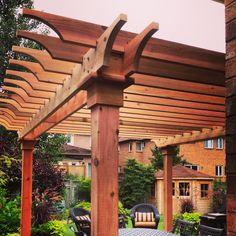 Cedar Pergola designed and built by RenoNate. Cedar Deck, Cedar Pergola, Deck With Pergola, Outdoor Pergola, Backyard Pergola, Gazebo, Outdoor Decor, Outdoor Living Areas, Outdoor Spaces