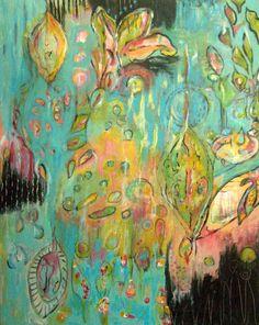 "24""x30"" acrylic on panel, Annie Lockart"