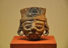 Escultura maya.