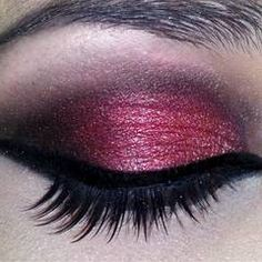 Red eyeshadow is wicked!