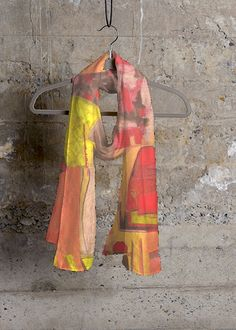 Cashmere Silk Scarf - First snow 1 by VIDA VIDA 3NYPDR