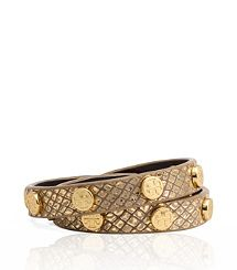 PYTHON PRINT DOUBLE WRAP LOGO STUD BRACELET-someone want to buy this for me? I wouldn't turn it down! haha
