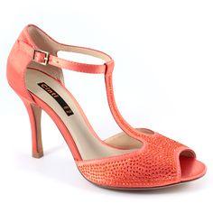 Scarpe moda donna: Sandali tacco medio E9-01 Corallo