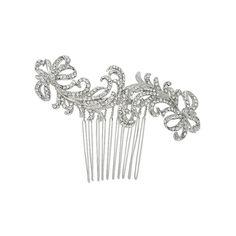 Nina Bridal Caleigh Swarovski® & Glass Crystal Hair Comb - Antique Silver