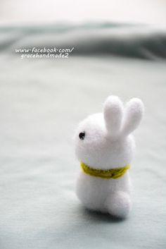 Grace--Easy needle felting (bunny)