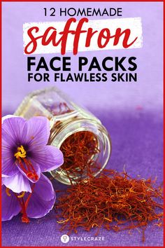 12 Homemade Saffron Face Packs For Flawless Skin Healthy Tips, Healthy Skin, Healthy Routines, Healthy Women, Healthy Habits, Seaweed Mask, Different Types Of Arthritis, Natural Home Remedies, Home Remedies